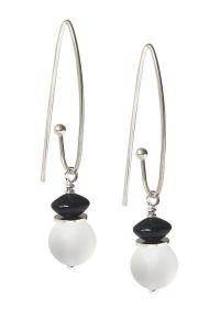 Infinity - Frosted Quartz Earrings - Long Hooks