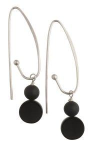 Miss Daisy Black Earrings - Long Hook