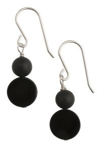 Miss Daisy Black Earrings - Short Hook