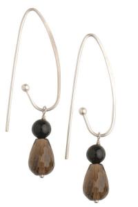 Tango Smokey Quartz Earrings - Long Hooks