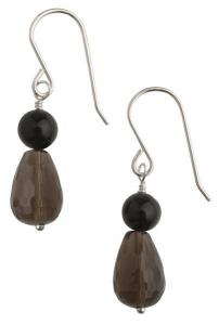Tango Smokey Quartz Earrings - Short Hooks