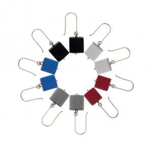Salsa cube earrings circle